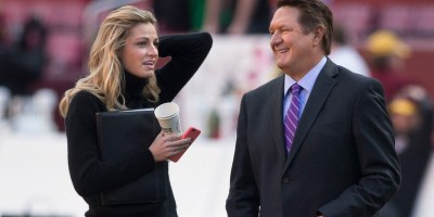 Erin Andrews and Chris Myers - Photo by Keith Allison