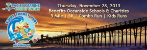 The Eighth annual O'side Turkey Trot will be held Thanksgiving morning in North San Diego County