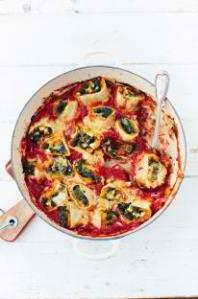 Squash and spinach rotolo