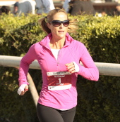 Jockey Chantal Sutherland is ready to run in the Surf City Half on Sunday.