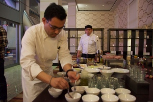 Fabulous food and promotions at Marriott - photo by Donna Balancia
