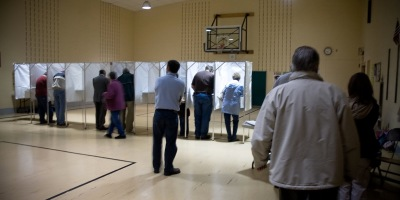 Voting in person - Photo by Heather Katsoulis